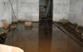 Вода в подвале многоквартирного дома и частного: что делать?