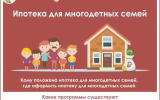 Ипотека многодетным семьям: банки, условия, оформление