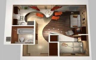 Перенос кухни в жилую комнату