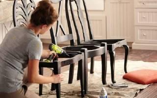 Новые стулья из старых своими руками